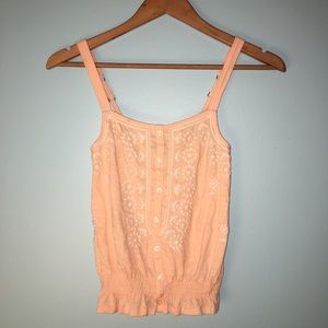 Peachy front buttons cami top